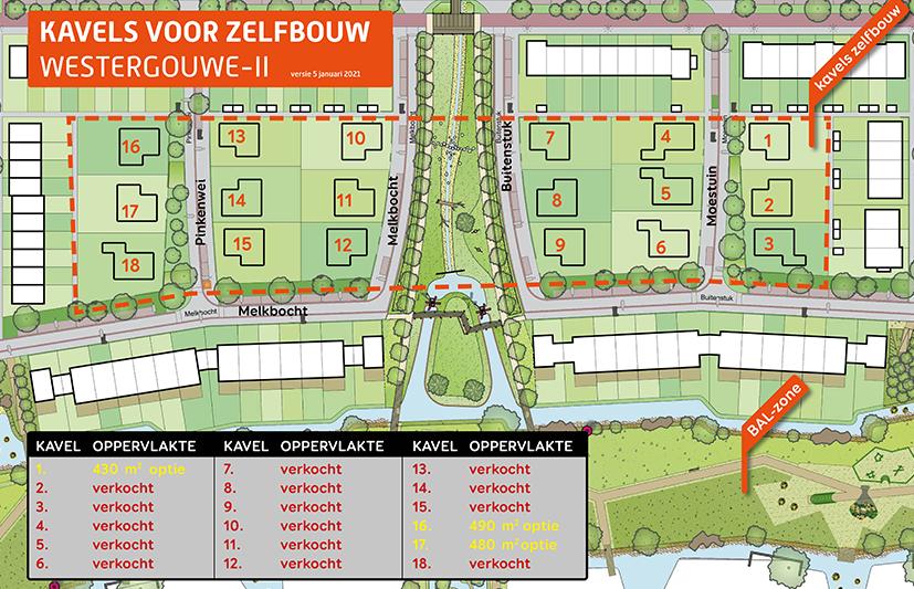 (1) IN VERKOOP: Kavels voor zelfbouw in Westergouwe-II