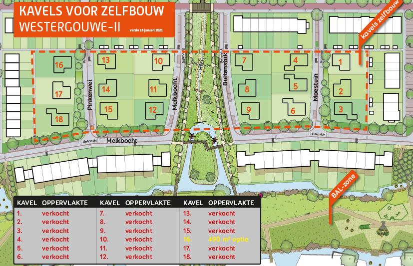 IN VERKOOP: Kavels voor zelfbouw in Westergouwe-II