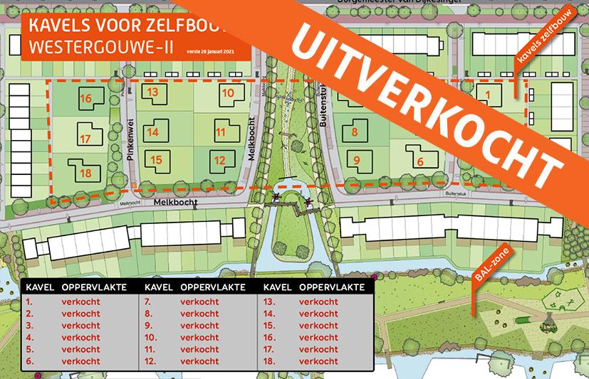 VERKOCHT: Kavels voor zelfbouw in Westergouwe-II